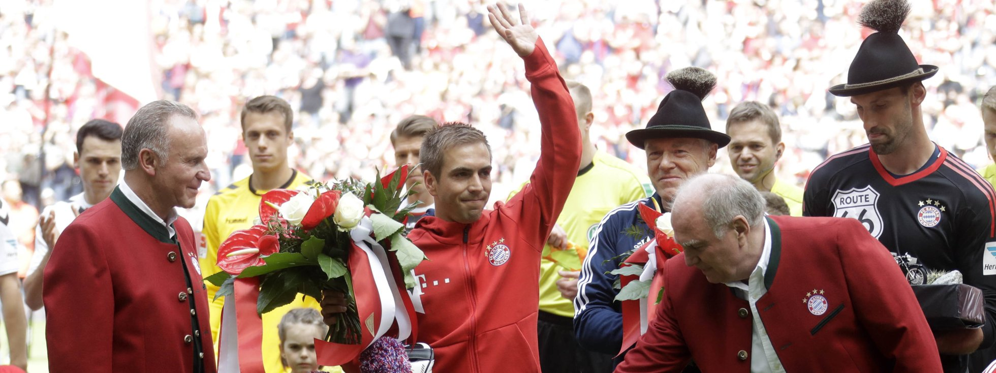 Philipp Lahm Abschied, Foto: picture alliance / AP Photo